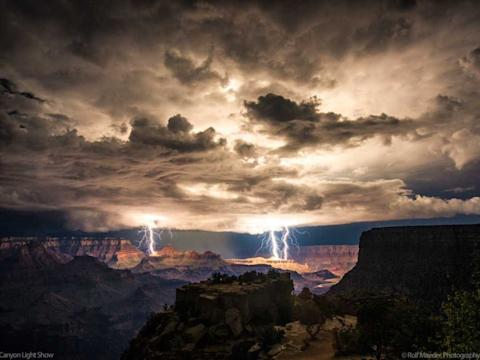 Lightning Storm over the Grand Canyon