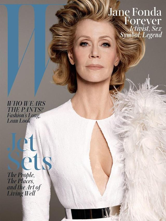 <p>Although Fonda appears ageless, she was 77 years old at the time of her June/July 2013 <em>W</em> magazine cover. (Photo: W) </p>