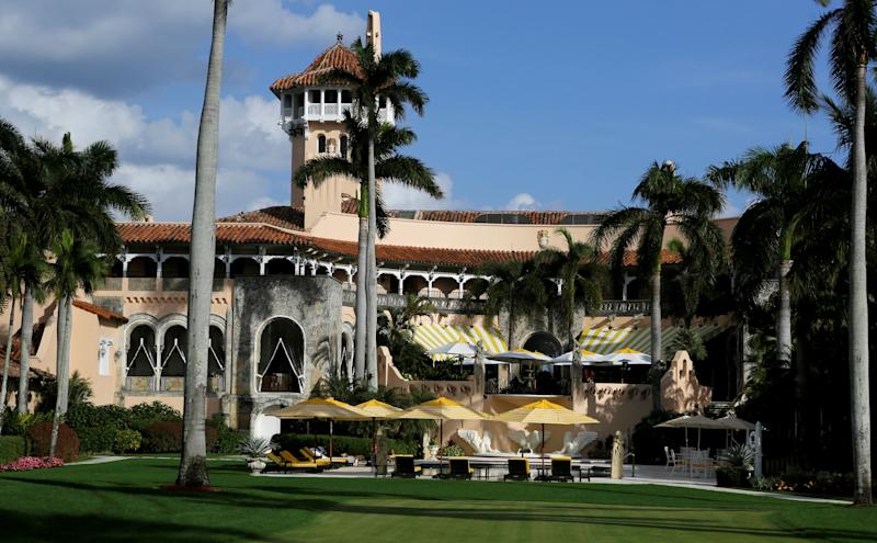 FILE PHOTO: The Mar-a-Lago estate is shown before U.S. President-elect Donald Trump departed with his family for New York, after spending the Thanksgiving holiday with family, in Palm Beach, Florida, U.S., November 27, 2016. REUTERS/Joe Skipper/File Photo