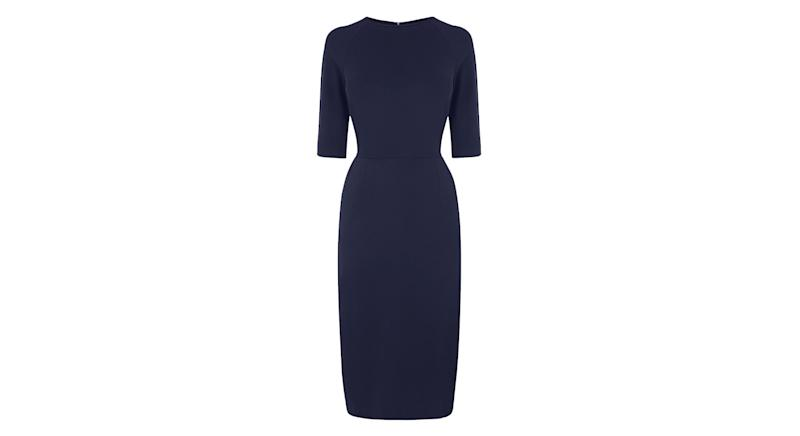 Liya Navy Jersey Dress
