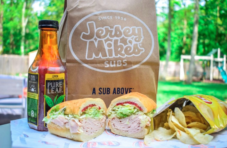 "<p>Since 1956, <a href=""https://www.jerseymikes.com/"" rel=""nofollow noopener"" target=""_blank"" data-ylk=""slk:Jersey Mike's Subs"" class=""link rapid-noclick-resp"">Jersey Mike's Subs</a> has been serving us with what we consider New Jersey sub royalty. Started by a high school senior and a football coach, Jersey Mike's Subs have 1,592 locations and more coming along the way. </p>"