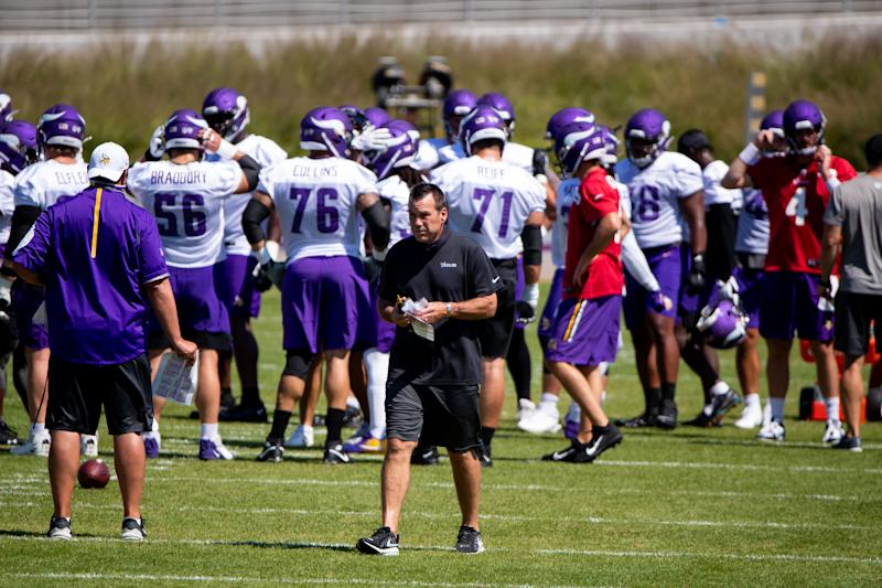 Vikings offensive coordinator Gary Kubiak talks about the struggles in the passing game