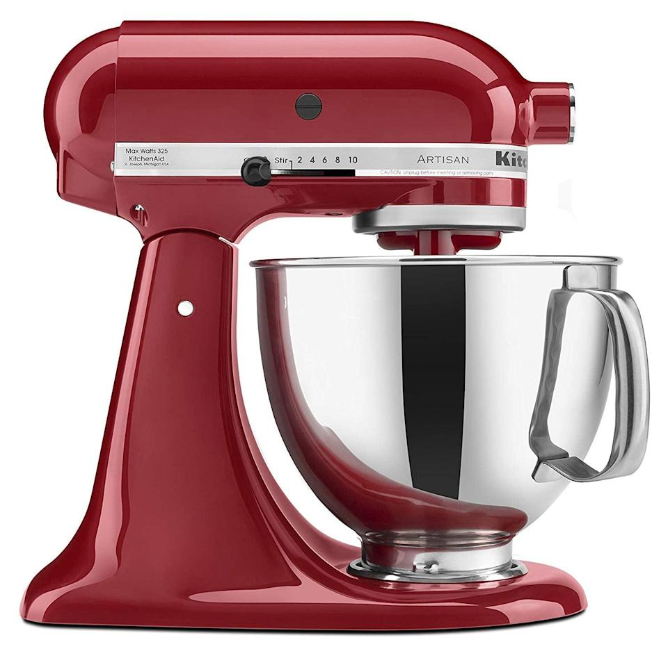 <p>If you don't have this <span>KitchenAid Artisan Tilt-Head Stand Mixer</span> ($260), what are you waiting for? This machine truly does it all, and baking just got so much easier.</p>