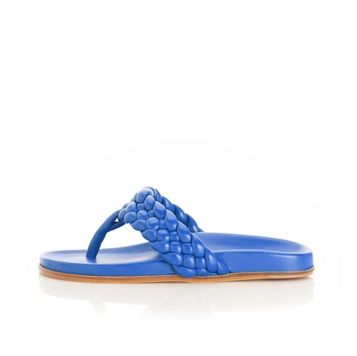 "<p>""As someone who has suffered from plantar fasciitis, I always love talking to Marion Parke about her brand. As a former podiatric surgeon, Parke blends luxury fashion and comfort - her signature insole has been well known since brand launch in 2016. The <span>Carly Braided Leather Thong Sandal in Cobalt</span> ($625) has me looking toward spring and summer - plus, it's got a contoured footbed my feet are already thanking me for."" - SW</p>"
