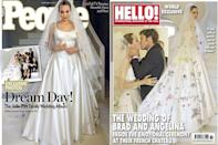 """<p>Brad Pitt and Angeline Jolie <a href=""""http://people.com/celebrity/angelina-jolie-and-brad-pitt-divorce-a-look-back-at-their-wedding/"""" rel=""""nofollow noopener"""" target=""""_blank"""" data-ylk=""""slk:married"""" class=""""link rapid-noclick-resp"""">married</a> in a ceremony at the Chateau Miraval, the family's estate in France. The wedding was attended by 20 guests and involved all of their six children. Jolie filed for divorce in 2016. </p>"""