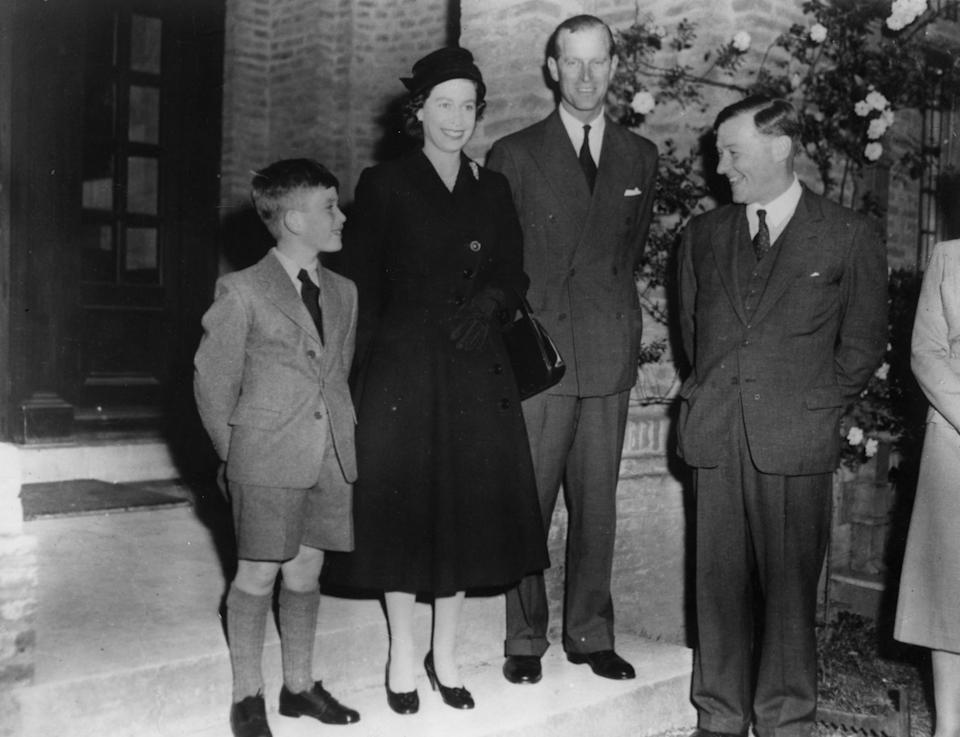 Prior to Gordonstoun, Charles attended Cheam School in Newbury. The Queen, his mother, dropped him off on his first day. <em>[Photo: PA]</em>