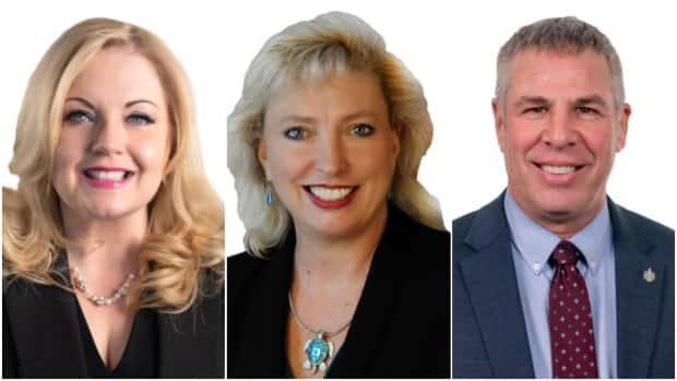 Conservative candidates Lianne Rood, Marilyn Gladu and Dave Epp. (Courtesy Conservative Party of Canada - image credit)