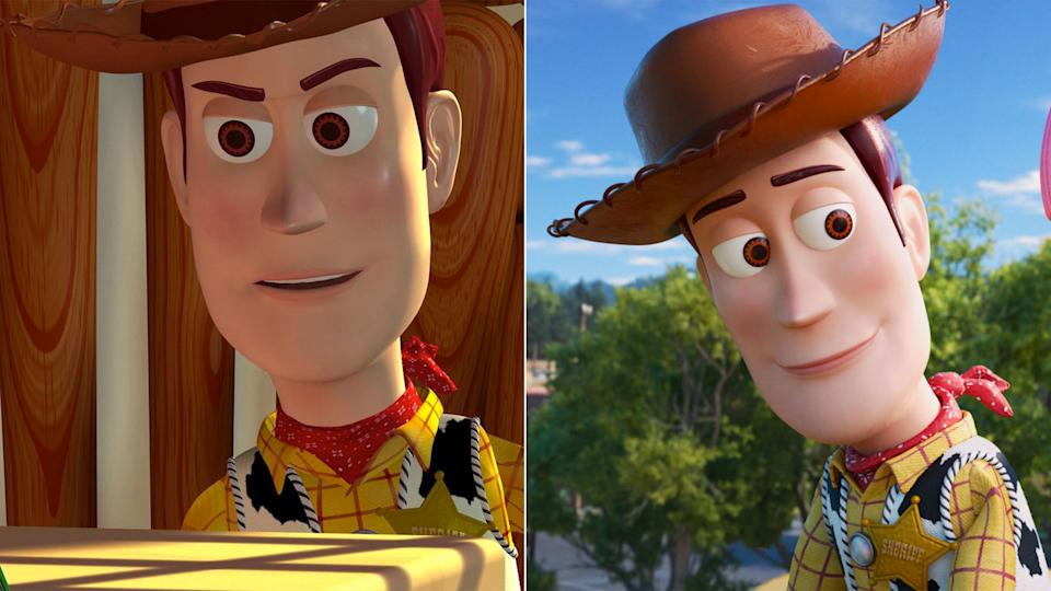Woody in 1995 and 2019. Pixar's animation has advanced by leaps and bounds since 1995 thanks to improved technology. (Disney)