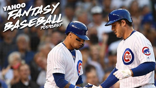 "Javier Baez and Anthony Rizzo of the <a class=""link rapid-noclick-resp"" href=""/mlb/teams/chi-cubs/"" data-ylk=""slk:Chicago Cubs"">Chicago Cubs</a>."