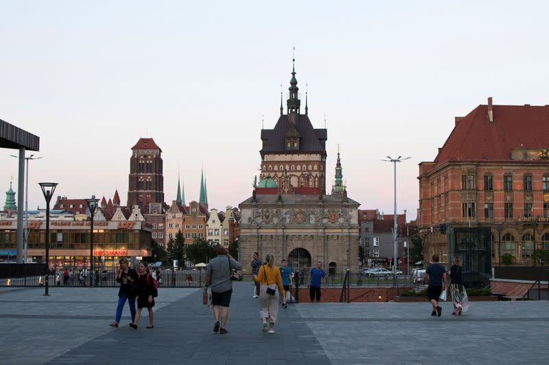 FILE PHOTO: General view of the Old Town near the 'Forum Gdansk' shopping mall in Gdansk