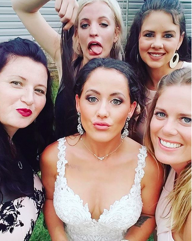"<p>The new bride, who has already changed her name to Jenelle Eason on social media, gave a shout-out to her girls for helping make her day special. ""Thanks so much for all these ladies being there for me on my big day. It meant so much to me!"" she wrote. (Photo: <a href=""https://www.instagram.com/p/BZd2EH6g5r1/?hl=en&taken-by=j_evans1219"" rel=""nofollow noopener"" target=""_blank"" data-ylk=""slk:Jenelle Evans via Instagram"" class=""link rapid-noclick-resp"">Jenelle Evans via Instagram</a>)<br><br></p>"