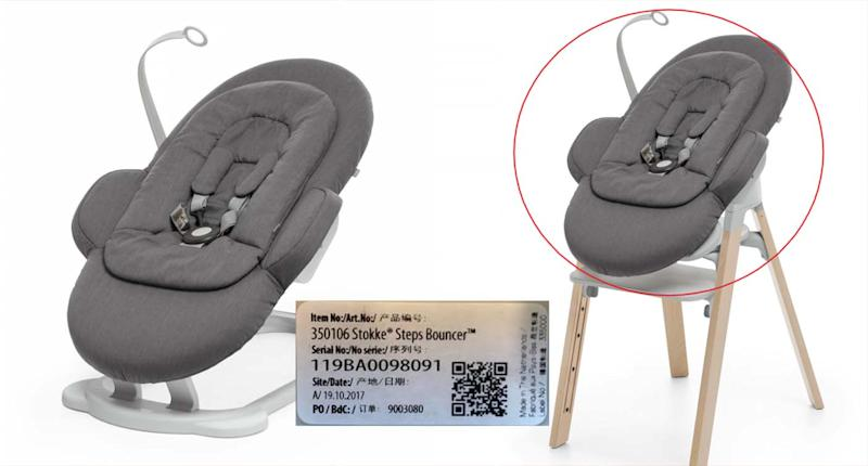 The affected bouncer was sold at Baby Buntings across Australia. Source: Australian Competition and Consumer Commission