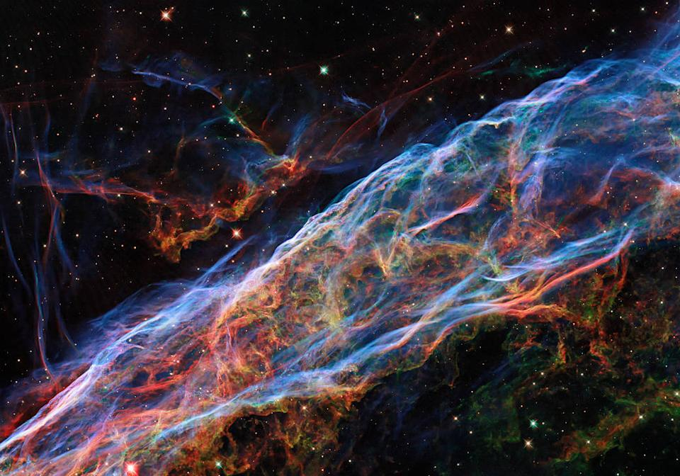 The Veil Nebula lies around 2100 light-years from Earth in the constellation of Cygnus (The Swan) (NASA)