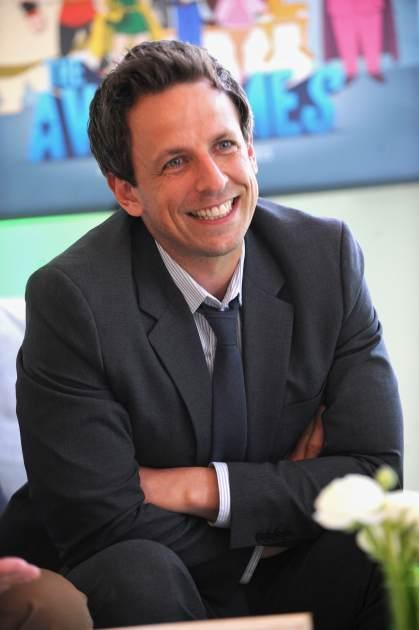 Seth Meyers attends the Hulu NY Press Junket, New York City, on April 30, 2013 -- Getty Images