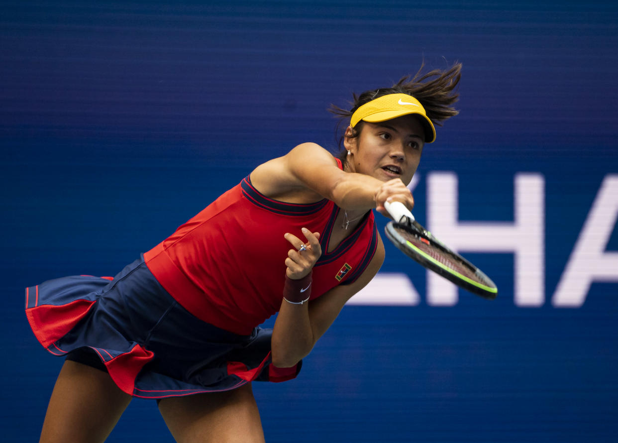 The teenage tennis star triumphed in the New York-based final last night. (Getty Images)