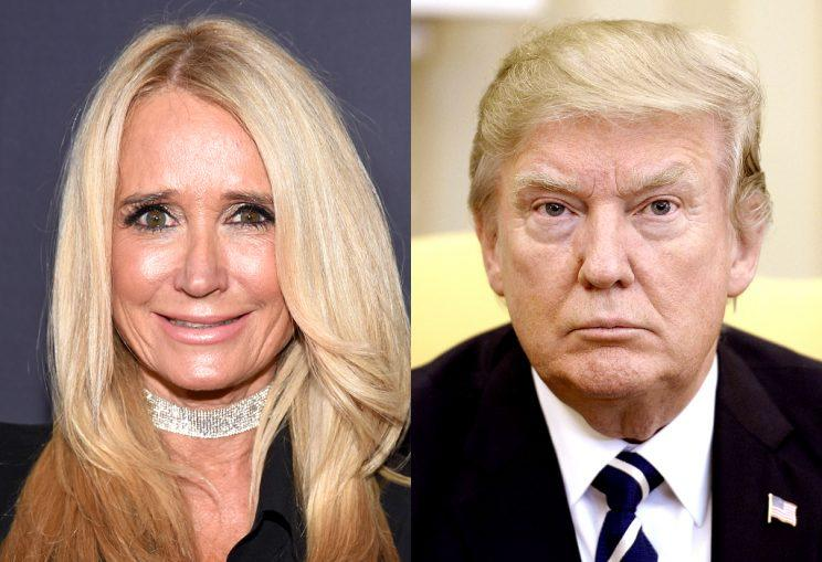 Kim Richards and Donald Trump.