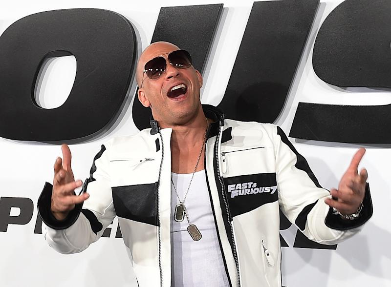 Actor Vin Diesel attends the premiere of 'Furious 7' held at the TCL Chinese Theatre in Hollywood, California on April 1, 2015