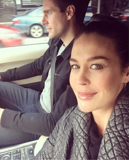 Megan shared this photo of her with fiance Shaun Hampson. Photo: Instagram