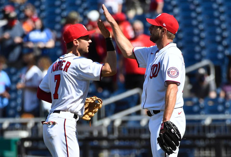 Trea Turner and Max Scherzer each debuted for the Nationals in 2015.