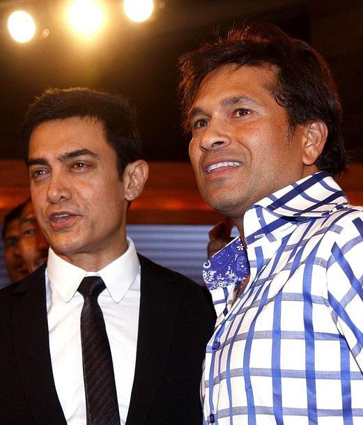 Aamir Khan and Sachin Tendulkar