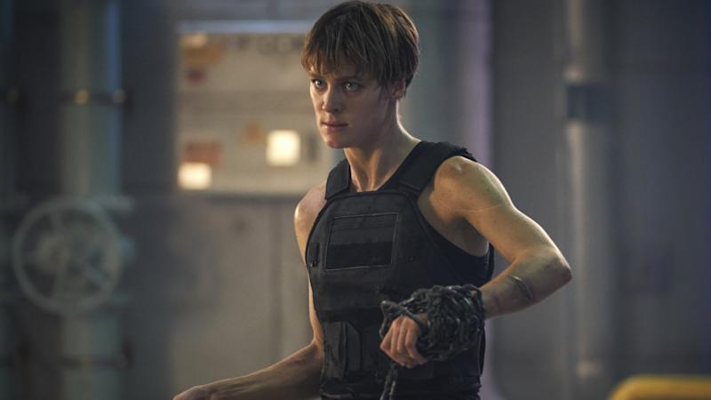 Mackenzie Davis as Grace in Terminator: Dark Fate (Credit: Paramount)