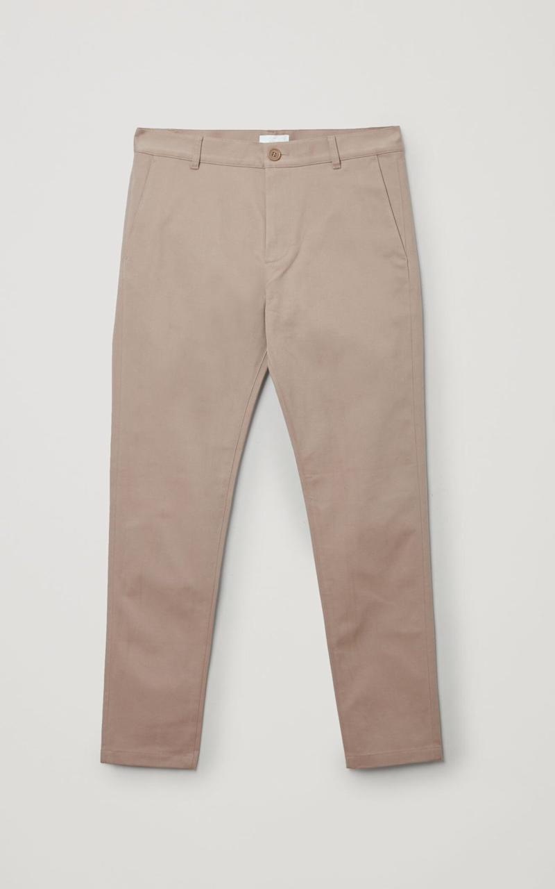 Cotton chinos, £69, COS