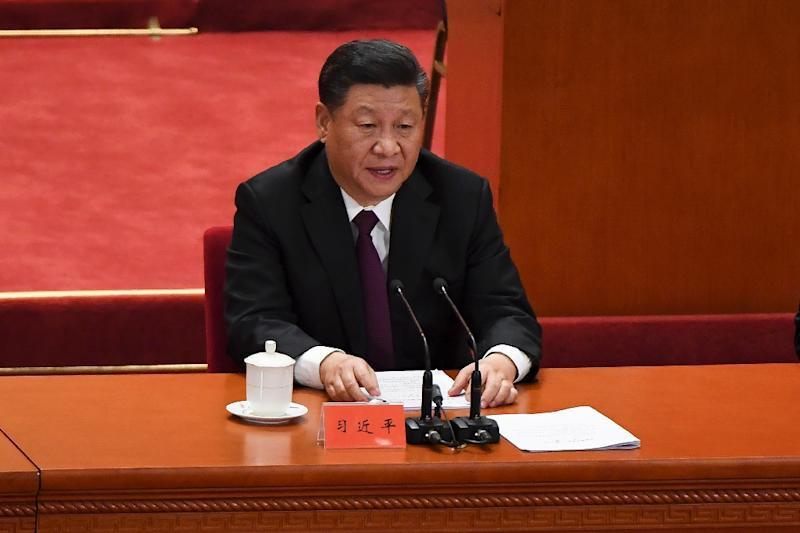 President Xi Jinping's speech came as China faces stern challenges from the United States on trade and diplomatic fronts