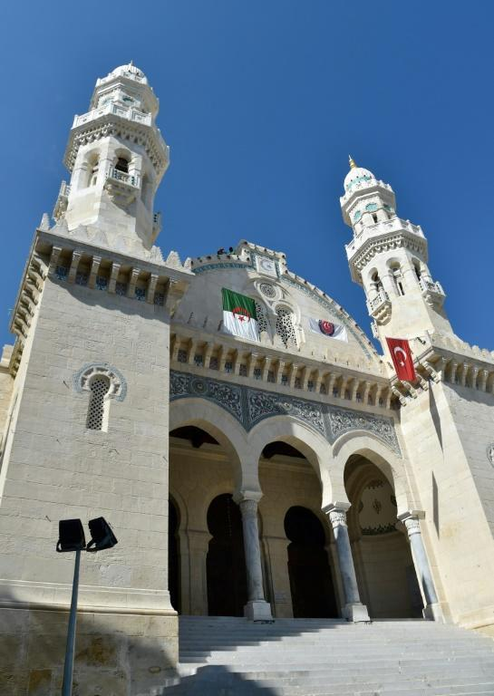 The Ketchaoua Mosque in the famed UNESCO-listed Casbah district of Algiers as workers complete the final stages of its renovation on October 15, 2017