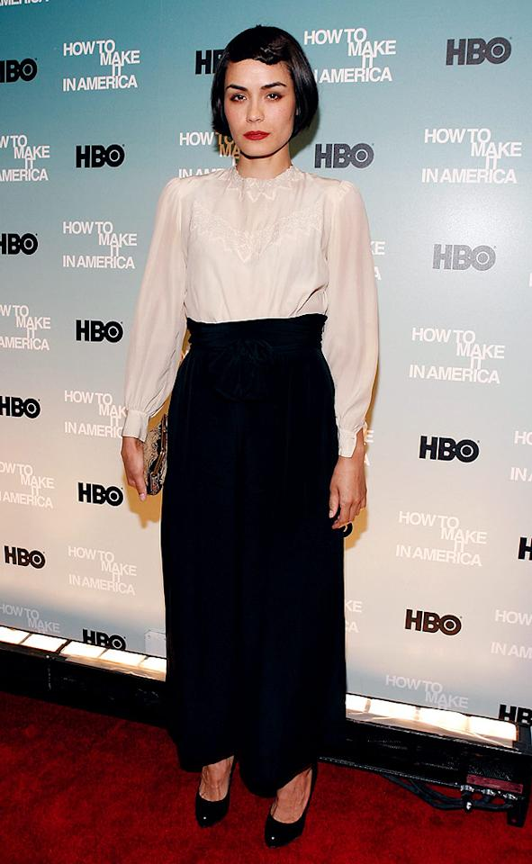 """Perhaps Shannyn Sossamon mistook the premiere of HBO's """"How To Make It in America"""" for a """"Sister Act 3"""" audition. Mark Von Holden/<a href=""""http://www.wireimage.com"""" target=""""new"""">WireImage.com</a> - February 9, 2010"""