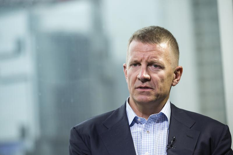 Erik Prince, the founder of Blackwater and a close associate of President Donald Trump, reportedly met with a Russian linked to the Kremlin during a secret meeting in the Seychelles in January 2017. (Justin Chin/Bloomberg via Getty Images)