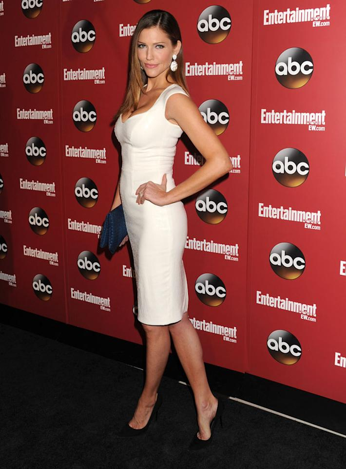 "Tricia Helfer (""Killer Women"") attends the Entertainment Weekly & ABC 2013 New York Upfront Party at The General on May 14, 2013 in New York City."