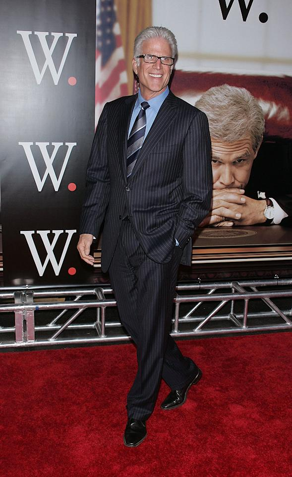 """<a href=""""http://movies.yahoo.com/movie/contributor/1800019170"""">Ted Danson</a> at the New York premiere of <a href=""""http://movies.yahoo.com/movie/1810026489/info"""">W.</a> - 10/14/2008"""