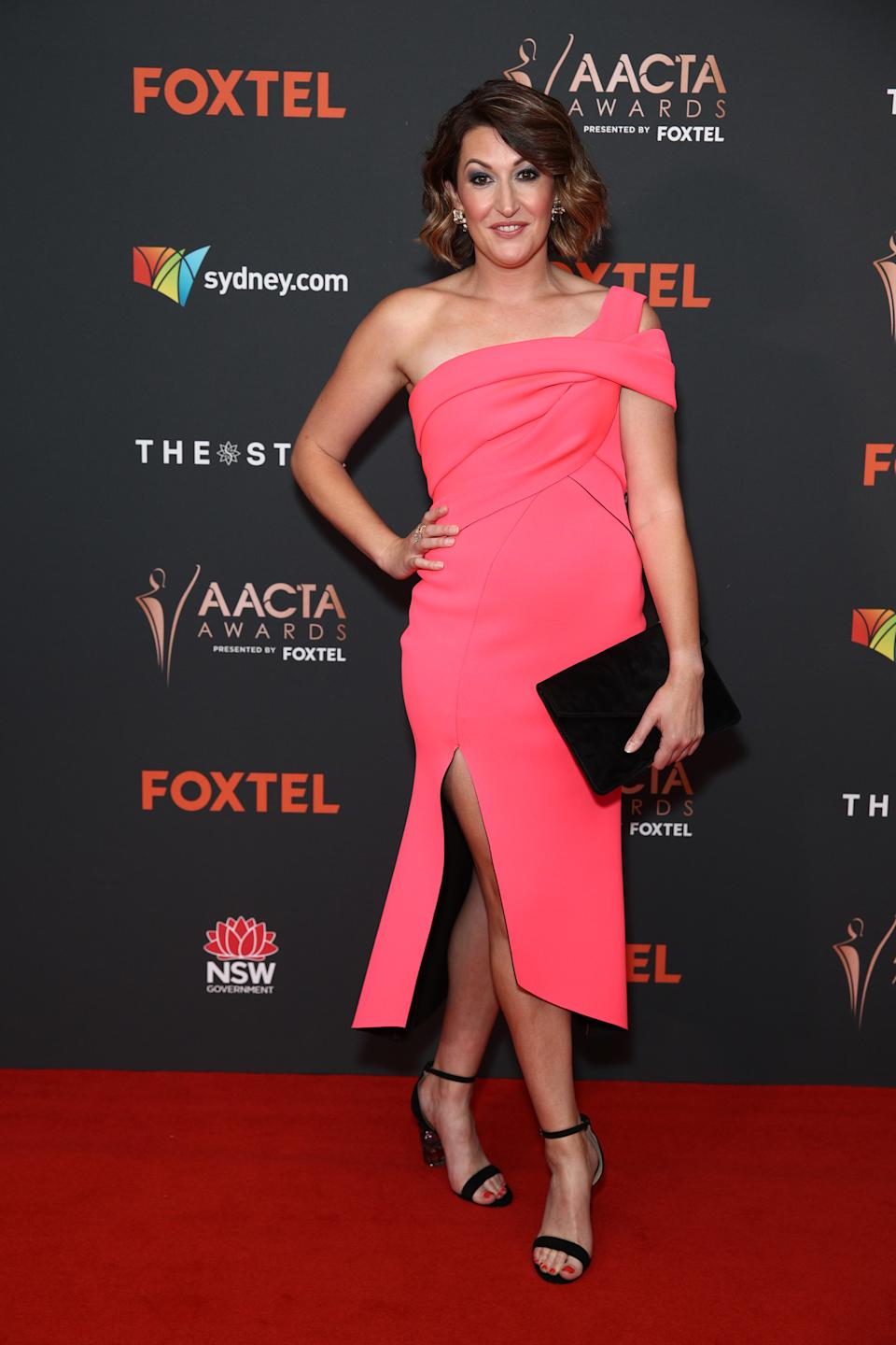 Celia Pacquola arrives ahead of the 2020 AACTA Awards presented by Foxtel at The Star on November 30, 2020 in Sydney, Australia.