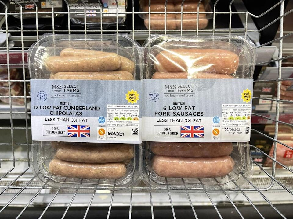 GB sausages would still be allowed to be shipped to Northern Ireland under the EU's proposals (Liam McBurney/PA) (PA Wire)