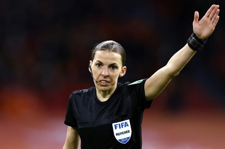 Stephanie Frappart is the first woman to referee a World Cup qualifier -- she took charge of the Netherlands v Latvia match
