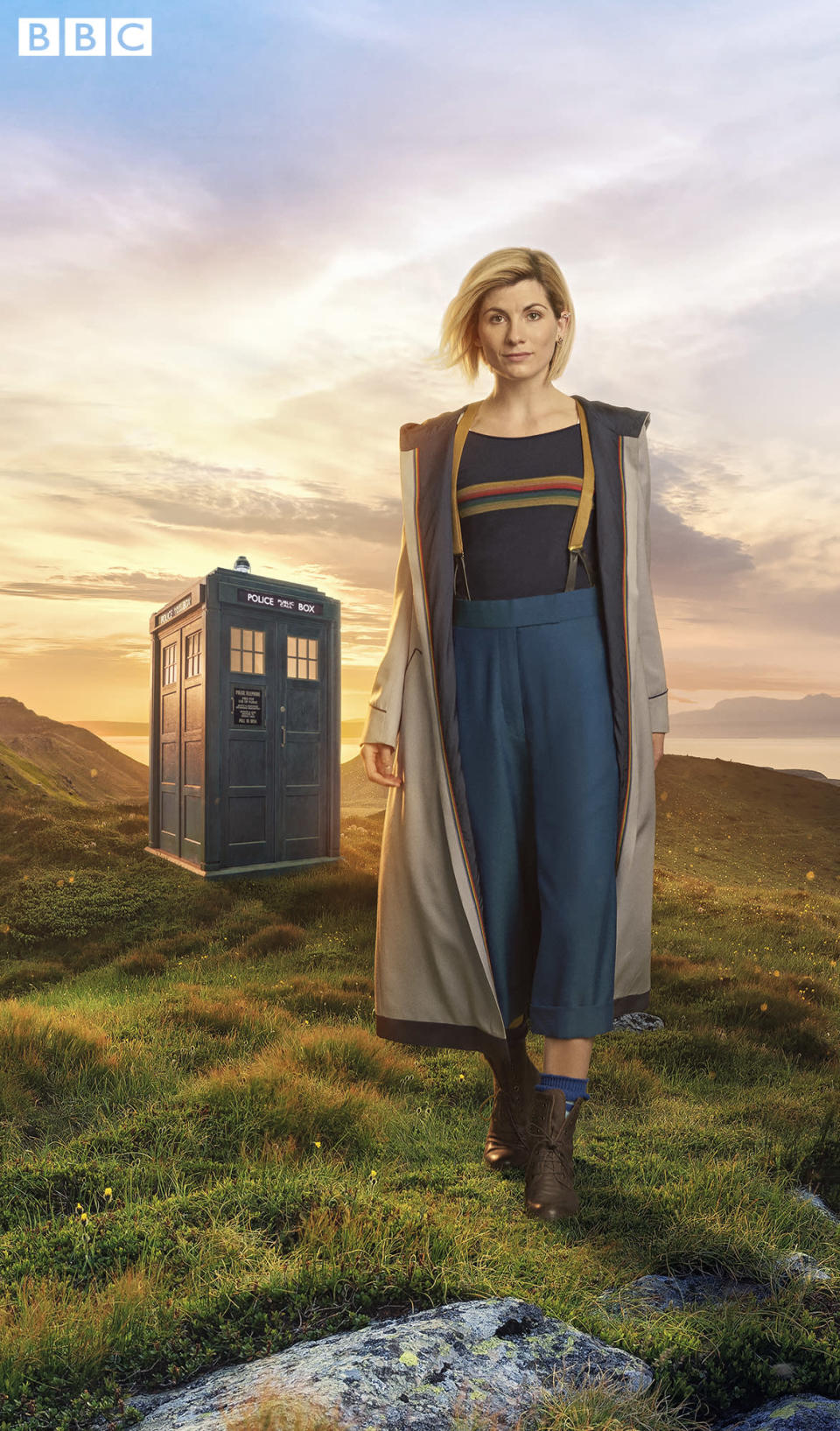Jodie Whittaker's Doctor Who costume revealed. (BBC/Steve Schofield)