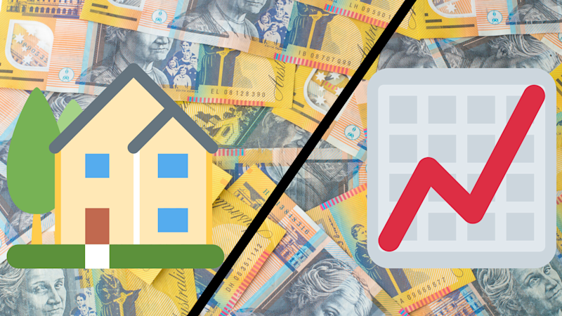 Pictured: Australian cash, house and investment chart. Image: Getty