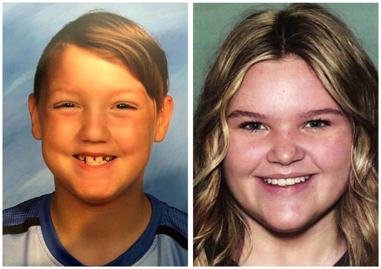 In this undated file photos released by the National Center for Missing & Exploited Children show missing children Joshua Vallow, left, and Tylee Ryan.