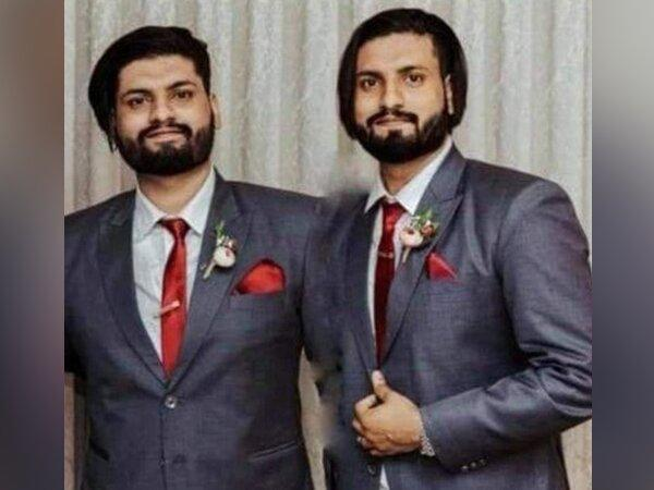 Identical twins Joefred and Ralphred Gregory who died due to post COVID complications in Meerut last week. (Photo/Twitter)