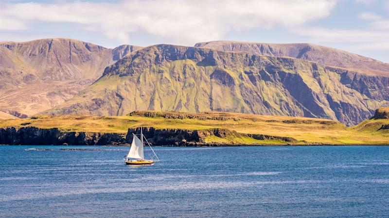 Sailing around Rum Island, Inner Hebrides Scotland (Getty).