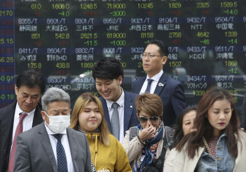 Asian shares edge lower despite encouraging China GDP data