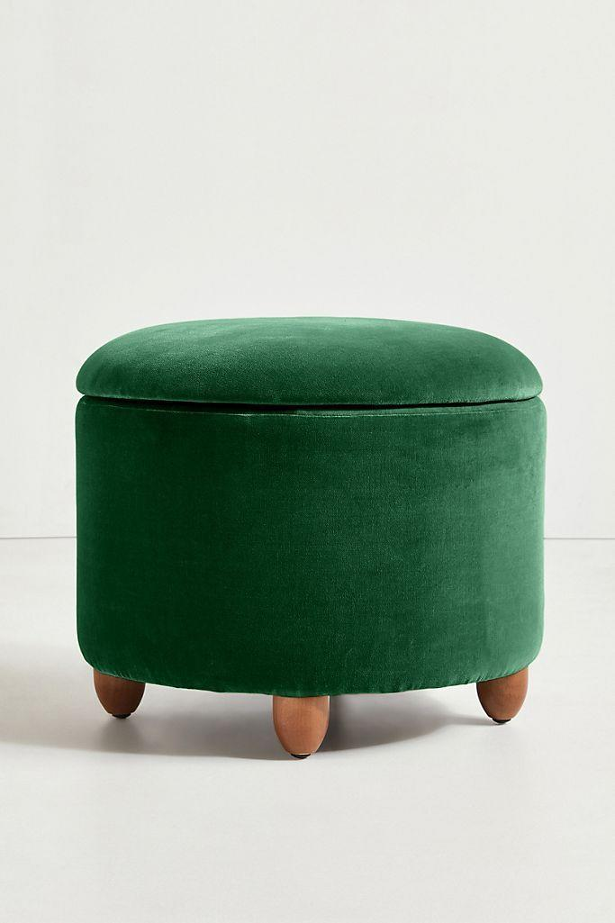 """<p><strong>Anthropologie</strong></p><p>anthropologie.com</p><p><strong>$398.00</strong></p><p><a href=""""https://go.redirectingat.com?id=74968X1596630&url=https%3A%2F%2Fwww.anthropologie.com%2Fshop%2Fvalencia-velvet-louise-storage-ottoman&sref=https%3A%2F%2Fwww.thepioneerwoman.com%2Fhome-lifestyle%2Fdecorating-ideas%2Fg35001978%2Fblanket-storage-ideas%2F"""" rel=""""nofollow noopener"""" target=""""_blank"""" data-ylk=""""slk:Shop Now"""" class=""""link rapid-noclick-resp"""">Shop Now</a></p><p>Storage furniture might be the greatest home decor creation of all time. This velvet ottoman is plain gorgeous, but even better, it packs a ton of storage for blankets, pillows, or anything else you need out of sight. It also comes in pink and blue!</p>"""