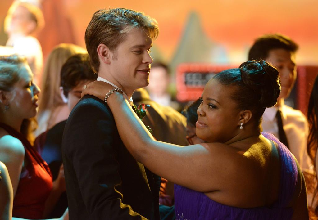 """Sam (Chord Overstreet) and Mercedes (Amber Riley) share a dance at the McKinley High prom in the """"Prom-asaurus"""" episode of """"<a target=""""_blank"""" href=""""http://tv.yahoo.com/glee/show/44113"""">Glee</a>."""" Will their relationship last after Mercedes graduates?"""