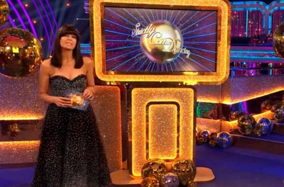 Claudia Winkleman hosting Strictly Come Dancing (Photo: BBC)