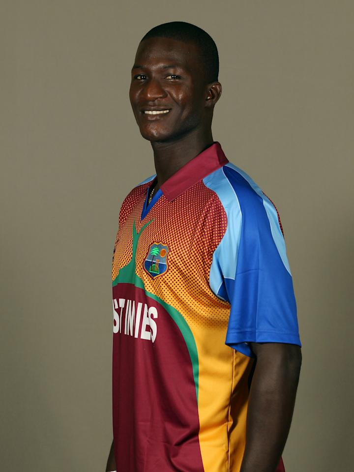 GEORGETOWN, GUYANA - APRIL 26:  Darren Sammy of West Indies poses during a portrait session ahead of the ICC T20 World Cup at the Pegasus Hotel on April 26, 2010 in Georgetown, Guyana.  (Photo by Clive Rose/Getty Images)