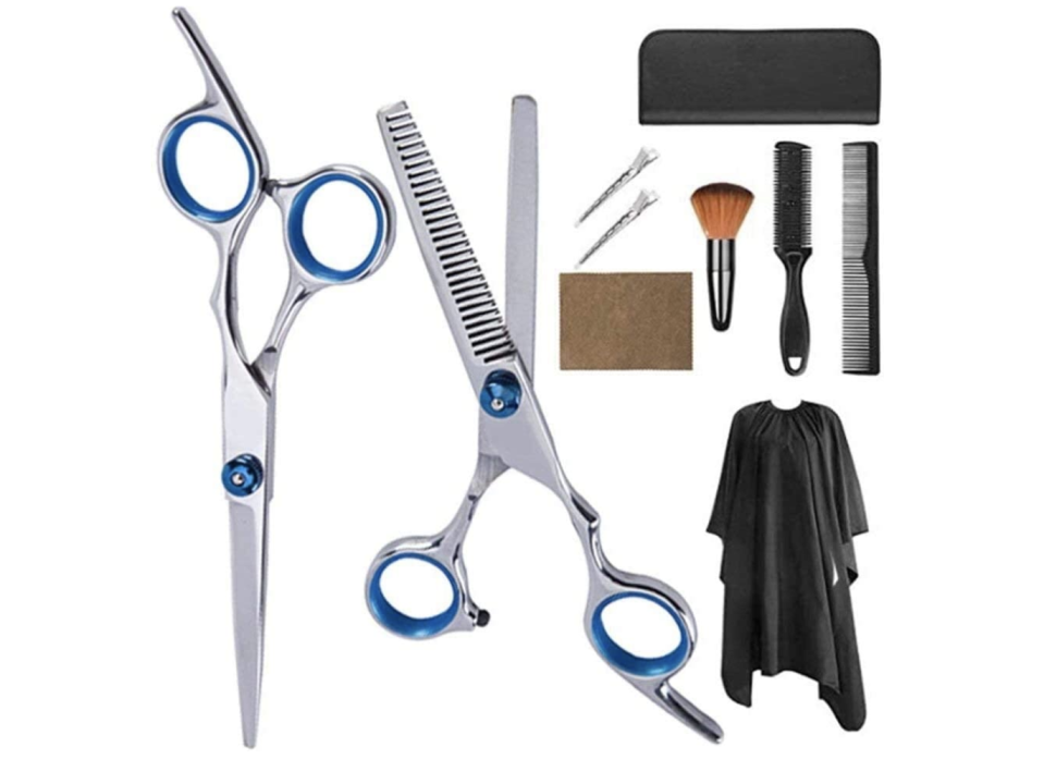 Hairdressing scissors set (10pcs set), S$33.83. PHOTO: Amazon