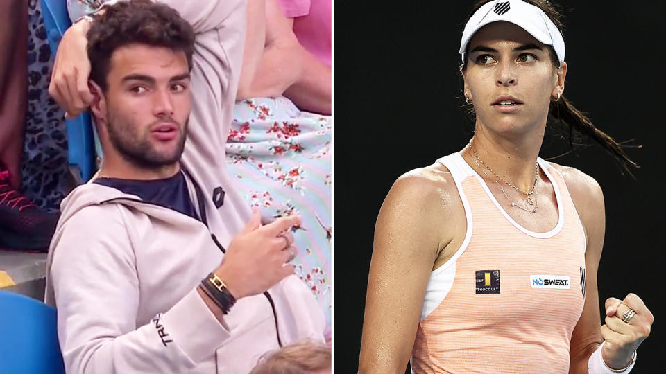 Matteo Berrettini and Ajla Tomljanovic, pictured here at the Australian Open.