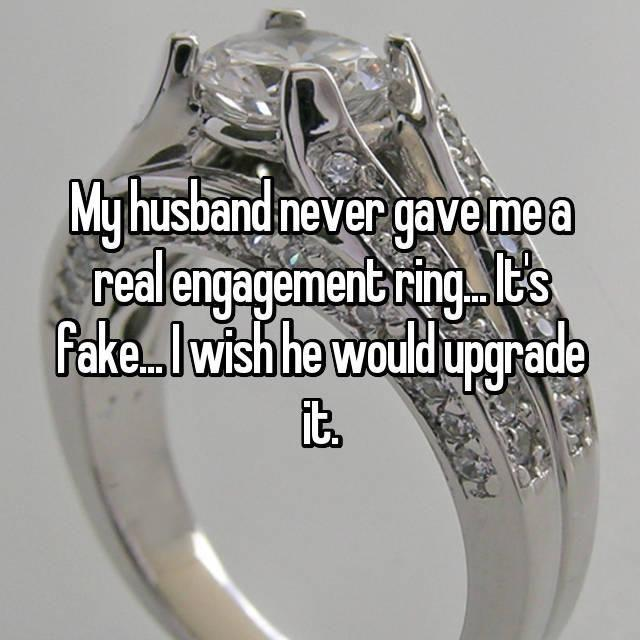 Would you wear a fake ring if you knew? Photo: Whisper.com