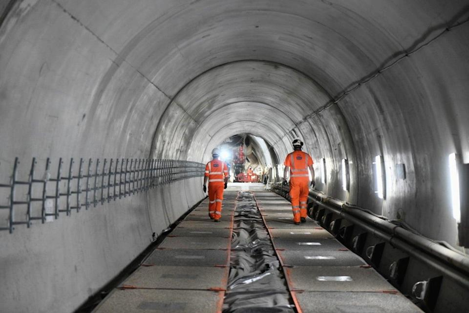 Tunnel vision: Engineers at Bank station (TfL)