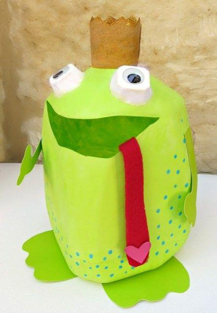 """<p>This little guy is the answer for catching all your kids' Valentines this year.</p><p><strong>Get the tutorial at</strong> <a href=""""https://www.morenascorner.com/2015/02/make-a-frog-prince-valentine-holder-from-a-milk-container.html"""" rel=""""nofollow noopener"""" target=""""_blank"""" data-ylk=""""slk:Morena's Corner."""" class=""""link rapid-noclick-resp"""">Morena's Corner. </a></p><p><a class=""""link rapid-noclick-resp"""" href=""""https://www.amazon.com/FolkArt-Matte-Acrylic-Craft-Bright/dp/B085M3MFDJ/?tag=syn-yahoo-20&ascsubtag=%5Bartid%7C2164.g.35119968%5Bsrc%7Cyahoo-us"""" rel=""""nofollow noopener"""" target=""""_blank"""" data-ylk=""""slk:SHOP CRAFT PAINT"""">SHOP CRAFT PAINT</a></p>"""